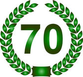 Green laurel wreath 70 years — Stock Photo