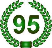 Green laurel wreath 95 years — Stock Photo