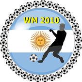 Dünya Şampiyonası düğme Arjantin — Stok fotoğraf