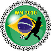 World championship button brazil — Stock Photo