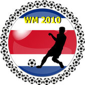 World championship button costa rica — Stock Photo