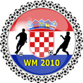 World championship button croatia — Stock Photo