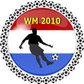 World championship button netherlands — Stock Photo