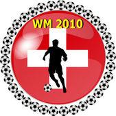 World championship button switzerland — Stock Photo