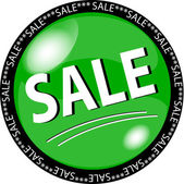 Green sale button — 图库照片