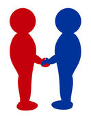 Two , shaking hands — Stock Photo