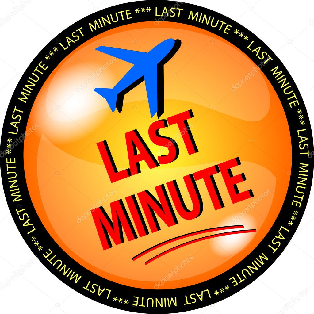Illustration of a last minute button — Stock Photo #1919682
