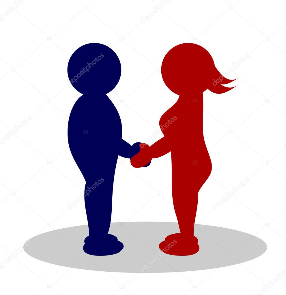 Illustration of a clipart couple .- man and woman — Stock Photo #1919956