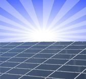 Solar panel against blue sunny sky — Stock Photo