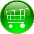 Stock Photo: Green shopping button