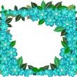 Flower frame on white background — ストック写真