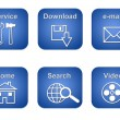 Stock Photo: Set of Website Service Buttons