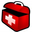 Isolated first aid box — Stock Photo