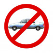 Prohibition sign Car — Stock Photo