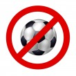 Prohibition sign Soccer — Photo #1974837