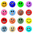 set of web smileys — Stock Photo