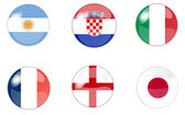 Set button flags 2 — Stock Photo
