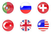 Set button flags 3 — Stock Photo