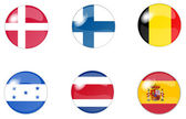 Set button flags 4 — Stock Photo