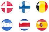 Set button flags 4 — Stock Photo
