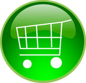 Green shopping button — Stock Photo