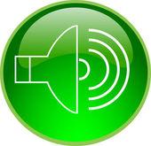 Green sound button — Stock Photo