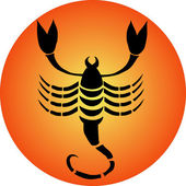 Zodiac button scorpio — Stock Photo