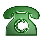 Oldschool telephone symbol — Stock Photo