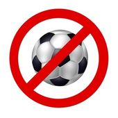 Prohibition sign Soccer — Stock Photo