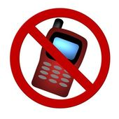 Prohibition sign Cell Phone — Stock Photo