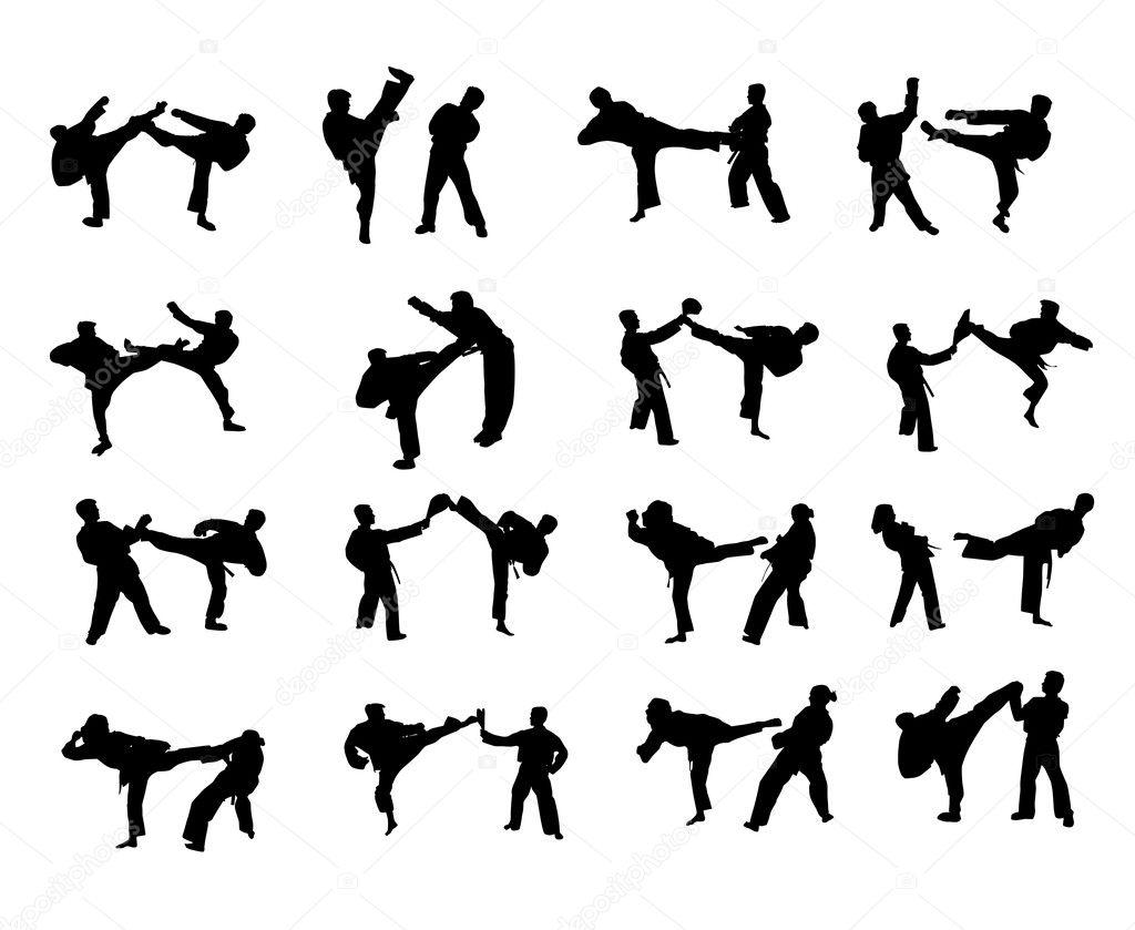 Silhouettes des arts martiaux sportifs photo 1974550 for Art martiaux