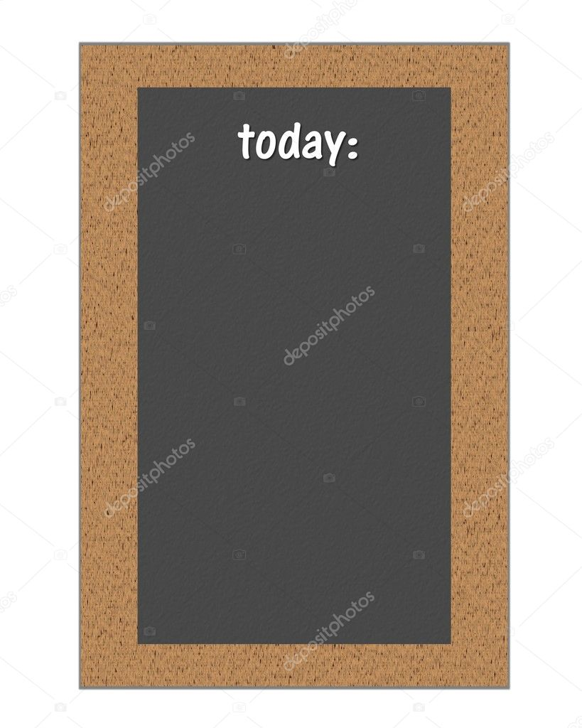 Blackboard for restaurant Today — Stock Photo #1974928