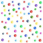 Beyaz arka plan üzerinde renkli baloncuklar — Stok fotoğraf