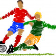 Abstract soccer player — Stock Photo