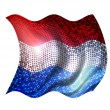 Sparkling flag of netherlands — Stock Photo