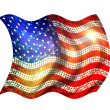 Sparkling flag of america — Stock Photo