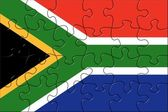 Logiczne flaga africe południowej — Zdjęcie stockowe