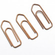 Isolated metal paperclips — Stock Photo