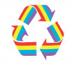 Colorful recycle — Stock Photo