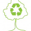 Tree and recycle icon — Stock Photo