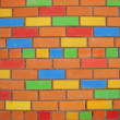 Colorful brick wall background — Stock Photo