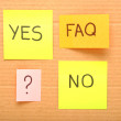 Notes with faq — Stock Photo