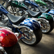 Stock Photo: Colorful Custom Motorcycles