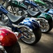 Colorful Custom Motorcycles - 图库照片
