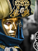 Masked in Gold — Stock Photo