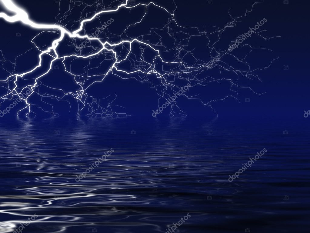 Lightining over lake — Stock Photo #1936335
