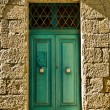 Old Aquamarine Door — Stock Photo
