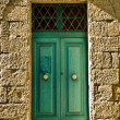 Stock Photo: Old Aquamarine Door