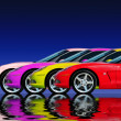 Fast Car Collection - Foto Stock