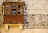 Medieval and Derelict Balcony — Stock Photo